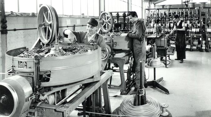 Start of cable production 1958